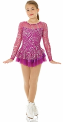 Mondor Magenta Sparkling Skating Dress