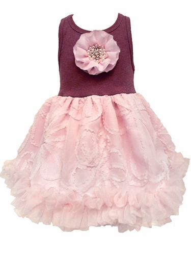 Mauve Flower Tutu Dress