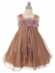 Mauve Shiny Chiffon Dress