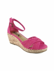 Mia Fashions Perri Pink Wedges