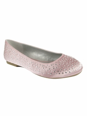 CLEARANCE - Mia Fashions Pink Crystal Ballet Flats
