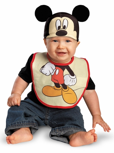 Mickey Mouse Bib & Hat