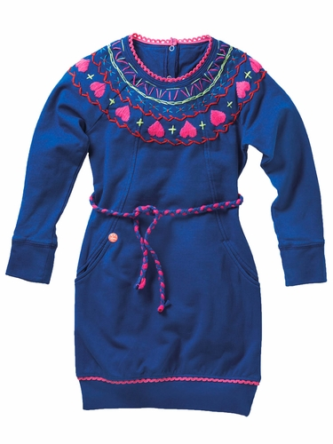 "Mim-Pi ""At Grandma's"" Royal Blue Dress"