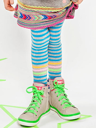 "Mim-Pi ""Swedish Fun"" Stripe Tights"