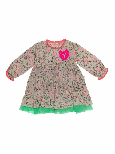 Mim-Pi Twirl & Whirl Cat Dress