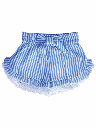 Mimi & Maggie Beach House Chambray Stripe Collection Little Island Short