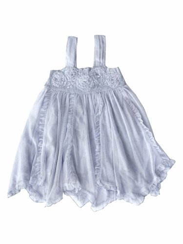 Mimi & Maggie Blue Twirling Flower Dress