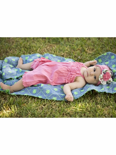 Mimi & Maggie Botanical Flower Bloomer Romper