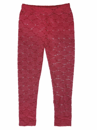 Mimi & Maggie Burgandy Craft Market Collection Lacey Leggings