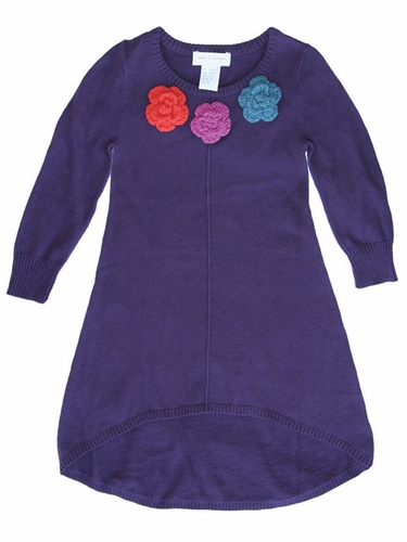 Flash Sale - Mimi & Maggie Craft Market Collection Purple Sweater Dress