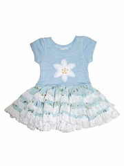 Mimi & Maggie Daisies Collection Aqua Babies Ruffles & Daisies Dress
