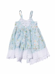CLEARANCE - Mimi & Maggie Daisies Collection Aqua Twirl Dress