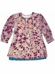 FLASH SALE:  Mimi & Maggie 'Fall Festival' Tunic w/ Wool Embroidery