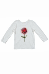 Mimi & Maggie Happiness Collection Pom Pom Flower Tee