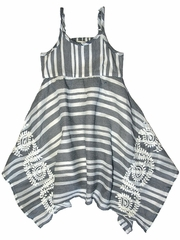 Flash Sale - Mimi & Maggie Indigo Bohemian Monterey Stripe Dress