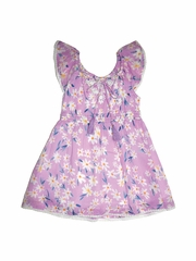CLEARANCE - Mimi & Maggie Lavender Daisies Collection Nature Flowers Dress