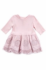 CLEARANCE - Mimi & Maggie Pink Tranquil Garden Babies Juliana Dress