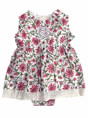 Mimi & Maggie Provence Collection Freshly Picked Pink Flowers Dress