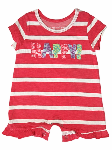 Mimi & Maggie Red Egg & Ginger Happy Romper