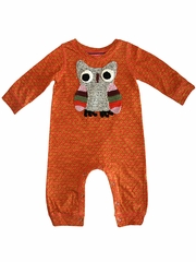 Mimi & Maggie Red Egg & Ginger Orange Owl Wisdom Bodysuit