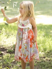 Flash Sale - Mimi & Maggie Teahouse Collection Bamboo Flower Dress