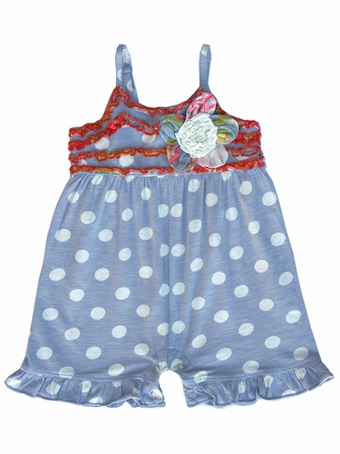 Mimi & Maggie Teahouse Collection Flower Dots Romper