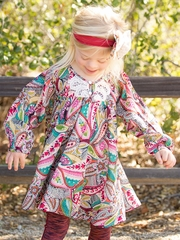Mimi & Maggie Venice Canals Collection Dandelion Flower Dress