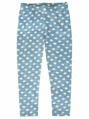 Mimi & Maggie Whispering Forest Collection Blue Dots Legging