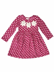 Mimi & Maggie Whispering Forest Fuchsia Lunch Date Dress