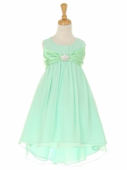 Mint Chiffon High Low Dress