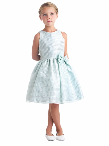 Mint Hot Air Balloon Striped Jacquard Dress