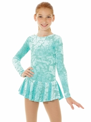 Mondor Mint Print Born To Skate Glitter Velvet Dress