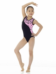 Mondor Animal Print & Velvet Leotard