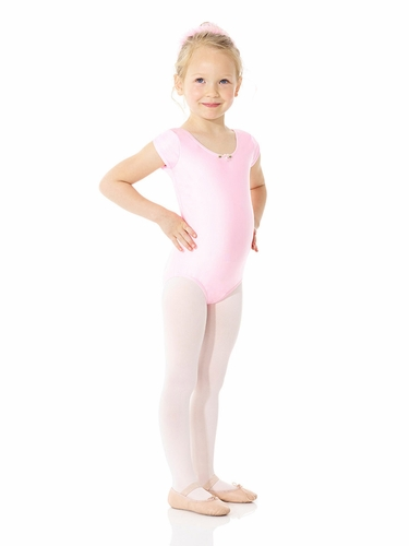 Mondor Ballerina Cherry Pink Cape Sleeve Leotard