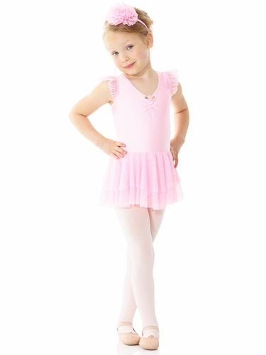Mondor Ballerina Cherry Pink Short Sleeve Dress