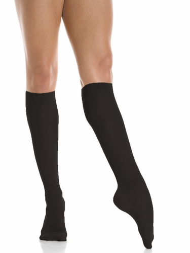 Mondor Black Knee High Socks