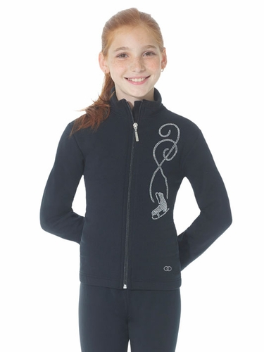 Mondor Black Polartec Jacket w/ Rhinestones Design At Front