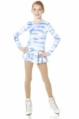 Mondor Blue Sky Born To Skate Glitter Velvet Dress