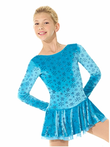 Mondor Blue Snowflake Laced Back Born To Skate Dress