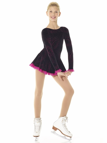 Mondor Born To Skate Pink Waves Mesh Detail Dress