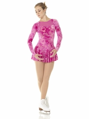 Mondor Fantasy On Ice Pink Passion Mesh & Glitter Velvet Dress