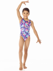 Mondor Flower Burst Printed Leotard