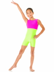 Lime Mondor Shiny Tank Unitard