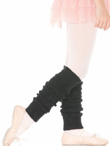 "Capezio 12"" Child Black Metallic Sheen Legwarmers"