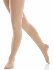 Mondor Light Tan Practice Matte Finish Footed Tights