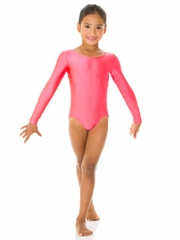 Mondor Neon Cherry Long Sleeve Leotard