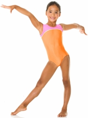 Mondor Neon Orange Tank Leotard w/ Combination of Neon Colors