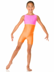 Orange Mondor Shiny Tank Unitard