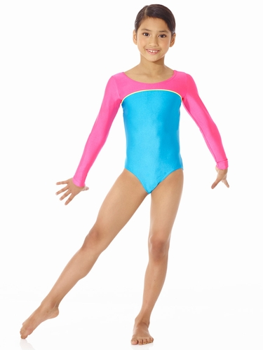 Mondor Ocean Neon Long Sleeve Leotard
