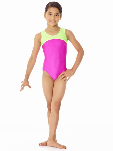 Mondor Pink Tank Leotard w/ Combination of Neon Colors